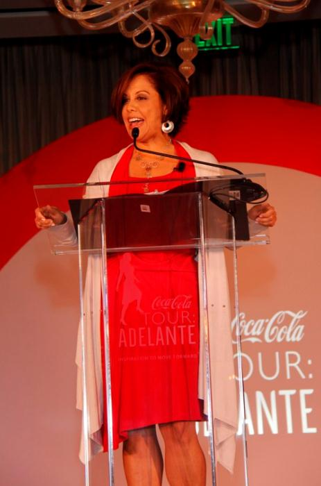 Michele Ruiz speaking at Coca Cola