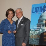Michele Ruiz receives award from Latina Style Magazine CEO Robert Bard