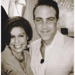 Michele Ruiz with singer and actor Carlos Ponce