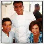 Michele Ruiz, Esai Morales, and Chef Juan Mondragon