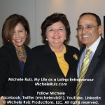 Michele Ruiz with Lulu Sobrino and Ruben Smith